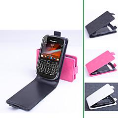 Mert BlackBerry tok Flip Case Teljes védelem Case Egyszínű Kemény Műbőr mert BlackBerry