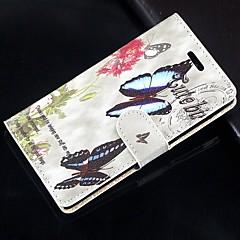 Na Samsung Galaxy Note Portfel / Etui na karty / Z podpórką / Flip Kılıf Futerał Kılıf Motyl Skóra PU SamsungNote 4 / Note 3 Lite / Note