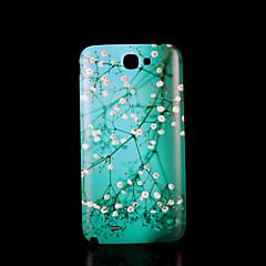 kukkakuvio kansi fo Samsung Galaxy Note 2 n7100 tapauksessa