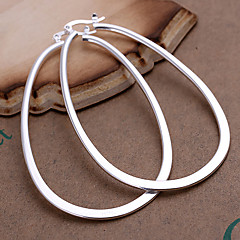 Earring 925 Sterling Silver Hoop Earrings Jewelry Women Party / Daily / Casual Copper / Silver Plated 2pcs