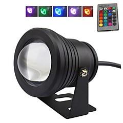 10 w rgb zwarte lens onderwater licht fontein licht (12v-24v)