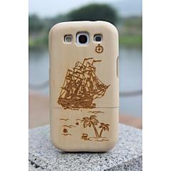 com diferentes padrões de moda naturais de bambu de madeira casos da tampa traseira para Samsung Galaxy S3 i9300 cores sortidas