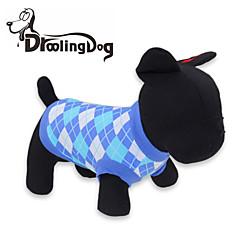 Gatos / Perros Camiseta Rojo / Azul Ropa para Perro Primavera/Otoño Ajedrez