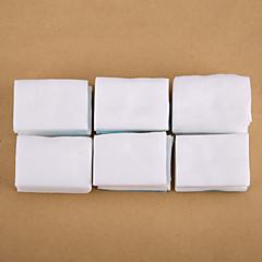 500st vit nagellacksremover bomulls nagel konst ren bomulls spik tips remover pads manikyr verktyg