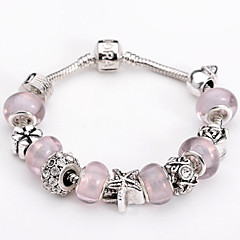 Silver Plated Fashion Glass Bead Bracelet