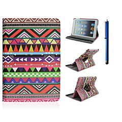 7.9 Inch 360 Degree Rotation Wave Pattern PU Leather Case with Stand and Pen for iPad mini 1/2/3