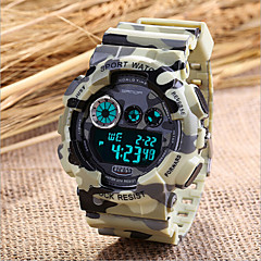 Men's Military Sport Watch Japanese Quartz Digital LED/Calendar/Chronograph/Water Resistant/Alarm (Assorted Colors)