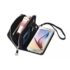 Galaxie s6 Rand Fall, Geldbörse Brieftasche Premium-Fallabdeckung für Galaxie s6 Rand (2015) schwarz