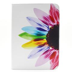 kleinen roten Blumen Muster PU Ledertasche mit Ständer und Kartenhalter für Samsung Galaxy Tab 10.1 4 T530