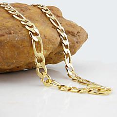 18K Golden Plated Figaro Necklace 50CM/0.9CM Width