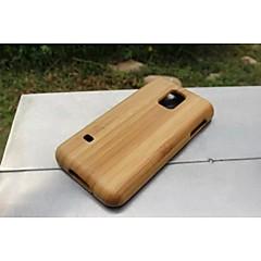 moda telefone de madeira caso filp verdadeiro bambu natural tampa da caixa traseira de madeira dura para Samsung Galaxy S5 mini-