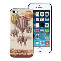 Fire Balloon and Elephant Design PC Hard Case for iPhone 5/5S