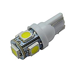 JIAWEN® T10 1W 5X5050SMD 70-90LM 6000-6500K Cool White  LED Car Light (DC 12V)