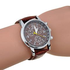 Men's Fashion Six Needles PU Leather Quartz Watch(Assorted Color) Cool Watch Unique Watch