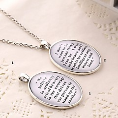 Classic  (Divergent) Alloy/Gem Necklace Pendant Necklaces Party/Daily/Casual/Sports 1pc