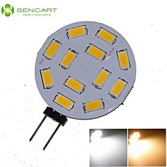 G4 6W 12x5730/5630SMD LED 550LM 3000K 6500K Warm White/Cool White for Car Light Bulb (DC9-36V)