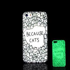 아이폰 5 / 아이폰 5 초 동안 어둠 하드 케이스에 고양이 패턴 노을