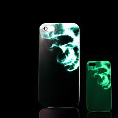 아이폰 5 / 아이폰 5 초 동안 어둠 하드 케이스에 두개골 패턴 노을