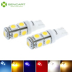 T10 LED 2.5W  Blue/Red/Warm White/Green/Yellow/White 9X5050SMD 120LM   for Car Light Bulb  (DC12-16V)