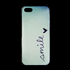 motif de simle TPU protection étui souple de la magie couverture arrière avec protecteur d'écran pour iPhone 5 / 5s