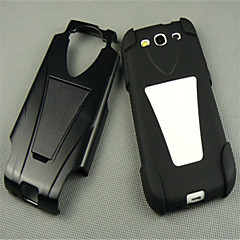 1pcs Black High Impact Silicone Rubber Stand Case Cover For Samsung Galaxy SIII S3 I9300