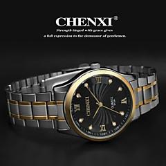 CHENXI® Heren Polshorloge Kwarts Japanse quartz Roestvrij staal Band Zilver Goud Wit Zwart