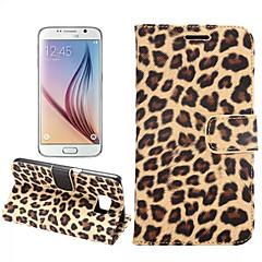 Mert Samsung Galaxy tok Kártyatartó / Állvánnyal / Flip Case Teljes védelem Case Leopárd minta Műbőr mert SamsungS7 edge / S7 / S6 edge