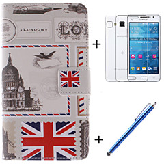 The British Flag Design PU Leather Full Body Case with Film and Capacitance Pen for Samsung Galaxy Grand Prime G530H