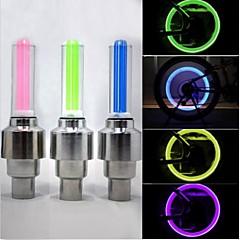 Bisiklet Işıkları tekerlek ışıkları vana kapağı yanıp sönen ışıklar LED - Bisiklet Su Geçirmez 50 Lümen Pil Bisiklete biniciliği