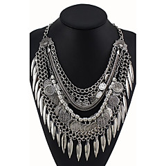 Z&X® Europe Style Leaves/Coins Tassel Statement Necklaces Daily/Casual 1pc