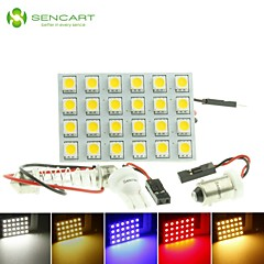 T10  BA9S SV8.5 G4 LED  4.5W 24X5050SMD LED 240LM  Blue/Red/Warm White/Yellow/White  for Car Light Bulb  (DC12-16V)