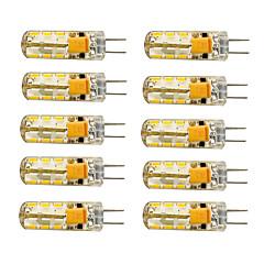 1.5W G4 LED-maissilamput T 24 SMD 3014 100-120 lm Lämmin valkoinen / Kylmä valkoinen AC 12 V 10 kpl