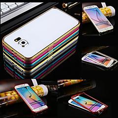 Na Samsung Galaxy Etui Odporne na wstrząsy Kılıf Bumper Kılıf Jeden kolor Metal Samsung S6