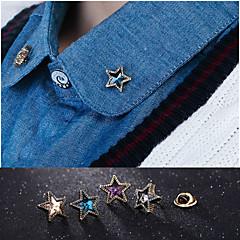 europejska gwiazda mody broszka igły stop kołnierz (1pair)