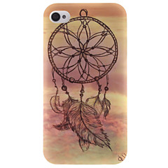 COCO FUN® Sunset Wind-Bell Pattern Soft TPU IMD Back Case Cover for iPhone 4/4S