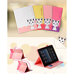 LEIERS®Lovely 3D Domi Cat Magnetic Flip Leather Cover Wallet Card Slot Case Stand for iPad Mini 1/2/3(Assorted Colors)