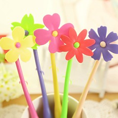 Flexible Cartoon Flower Style BallPoll Pen (Random Color)