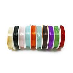 beadia 1mm rugalmas szakaszon gyöngyfűzés kristály kábelt nyaklánc karkötő DIY vezetékes menet több színű 10 tekercs (APX 5m / tekercs)