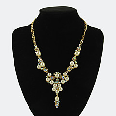 Fox&Crown Elegant Pearl Rhinestones Alloy Necklace Choker Necklaces Wedding/Party/Daily/Casual/Sports 1pc