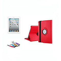 360 Degree Rotating Stand Leather Case Smart Cover For iPad2 3 4 Function+Screen Protector+Stylus