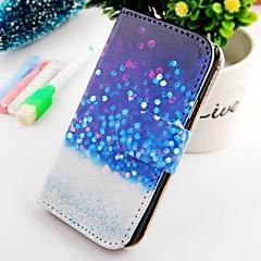 επιπλέουν dot στροφή γύρω από το πορτοφόλι σταθεί PU δερμάτινη θήκη για το SII i9100 Samsung Galaxy S2
