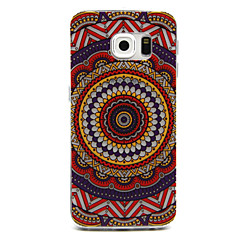 Sunflower Pattern Painted Relief Thin Transparent TPU Material Phone Case for Samsung Galaxy S6 edge