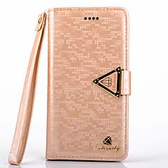 4s de diamant de luxe en cuir PU de cas complète du corps avec béquille et une carte slot pour iPhone 4 / 4S (couleurs assorties)