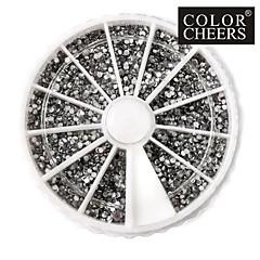 3600PCS Silver Acrylic Rhinestones Nail Art Decorations(2mm)