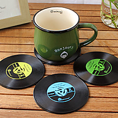 Vintage Vinyl Coasters Groovy CD Record Table Bar Drinks Cup Mat (Ramdon Color)