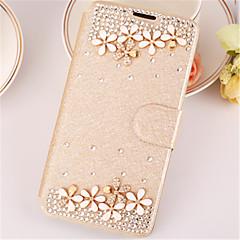 Για iPhone X iPhone 8 iPhone 6 Θήκες Καλύμματα Στρας με βάση στήριξης Ανοιγόμενη Πλήρης κάλυψη tok Συμπαγές Χρώμα Σκληρή PU Δέρμα για