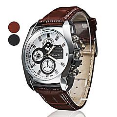 男性のビジネススタイルPUレザーバンドクォーツ腕時計(アソートカラー)