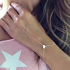 Bransoletki Bransoletka z pierścionkiem Stop Miłość Modny Impreza Codzienny Prezenty bożonarodzeniowe Biżuteria Prezent Złoty,1szt