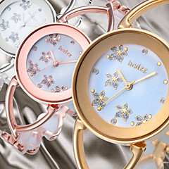 Flower Smart Dial Luxury Rose Gold Silver Women Lady Dressed Wrist Quartz Bracelet Bangle Watch Skeleton Band Cool Watches Unique Watches