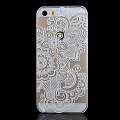 Five Flowers Pattern Transparent Printing PC Material Phone Case for iPhone 5/5S